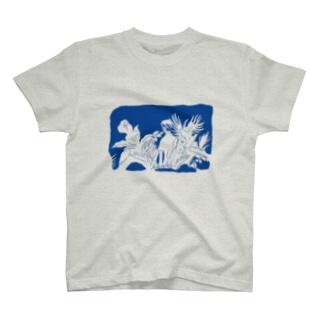 oyasmurのルル(blue) T-shirts