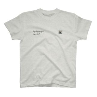 nemureco marketの心にゆるゆるを(たぬき) T-shirts