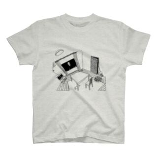 かもめE-Tシャツ T-shirts
