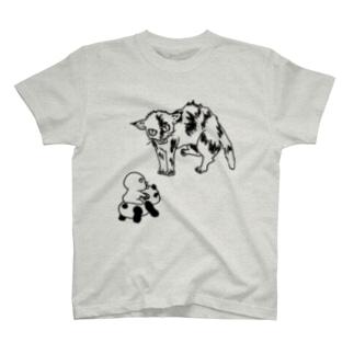 びっくりサビ猫 T-shirts