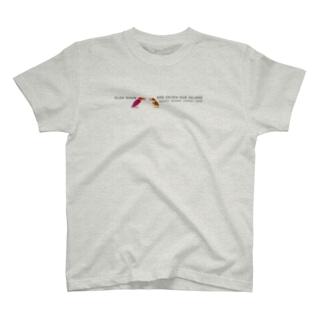 しまのなかまSLOW アカショウビン(給餌) T-shirts
