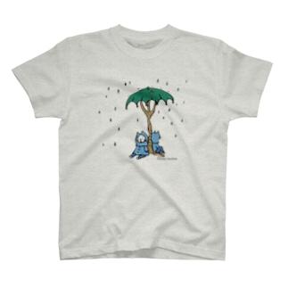 ほっかむねこ屋の雨宿り T-shirts