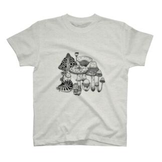 きのこ+α T-shirts