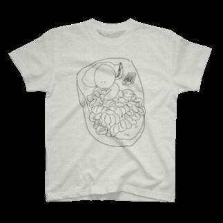 だぶるものおきのあんきも・かき・しらこ T-shirts