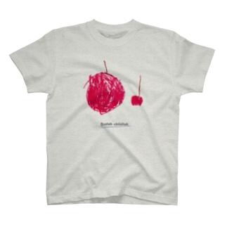 リンゴと小リンゴ T-shirts