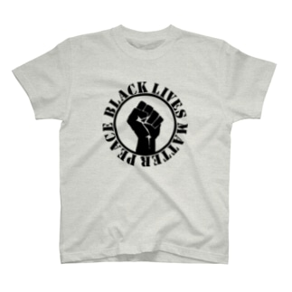 Black lives matter peace T-shirts