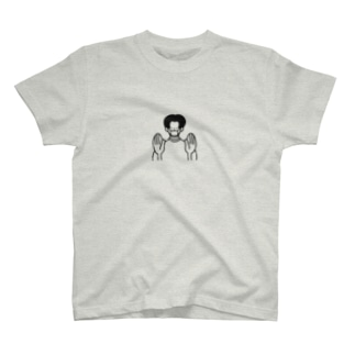 ソーシャルディスタンスを保つセンターパートの男の子(ブラックボーイズ) T-shirts
