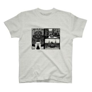 スペインの街並み詰め合わせ T-shirts