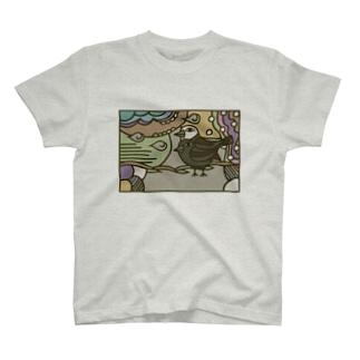 フクハラアキコのヨゲンノトリ T-shirts