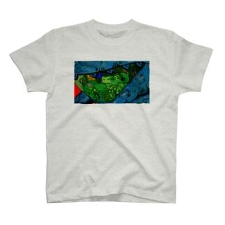カエルの潜水艦 T-shirts