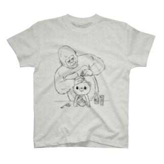 かき氷を作るゴリラ T-shirts
