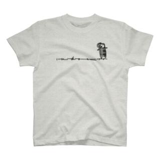 オダミヨの鍵ハモさんひかえめ単色 T-shirts