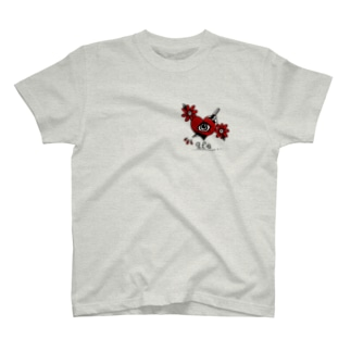 トラッド ハート&ナイフ T-shirts