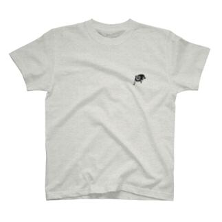 ワンポイントシニアパグ T-shirts