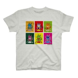レオ6カラープリント-Tシャツ T-shirts