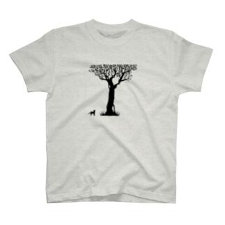 猫と木 T-shirts
