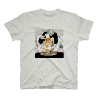 自家製パフェと椿 T-shirts