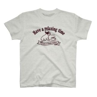 コーヒーとフレンチブルドッグ T-shirts