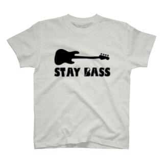 STAY BASS(ブラック) T-shirts