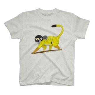 ボリビアリスザルの親子 T-shirts