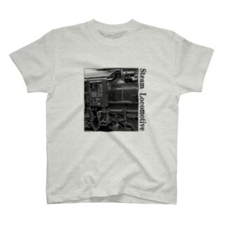 D51498 運転席周辺 黒いレタリング (モノクロフォト) T-shirts