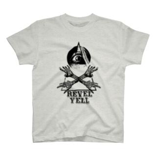 """revel yell"" T-shirts (black print) T-shirts"