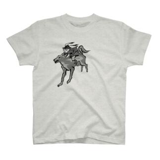 びわ鍾馗様と犬神 T-Shirt