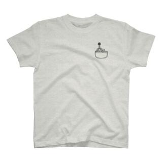 ポケラ黒 T-shirts