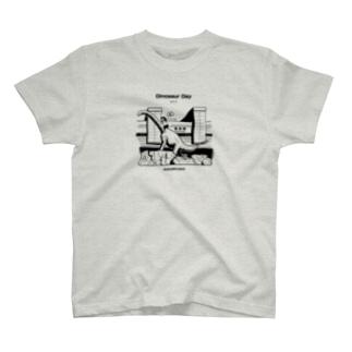 MUSUMEKAWAIIの0417「恐竜の日」英語版 T-Shirt