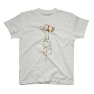 nikia-もふもふし隊の飛んでいきます T-Shirt