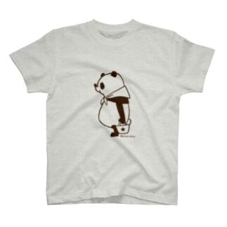 モノトーンパンダ T-shirts