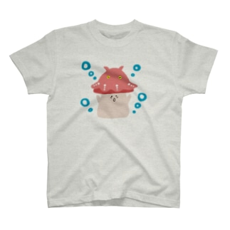 メンダコをのせたきのこ T-shirts
