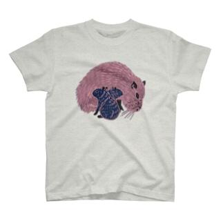 カピパラ親子ん T-shirts