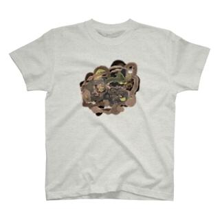 共有して長ずる T-shirts