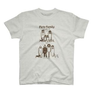 ピクトファミリー(10年間に何が?解説なし) T-shirts