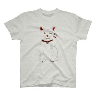 招き猫ちゃん T-shirts