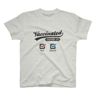 コロナワクチン2回目接種済み T-shirts