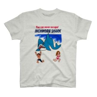 恐怖!シャクトリシャーク T-shirts