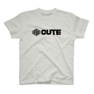 CUTE 太文字Tシャツ T-Shirt