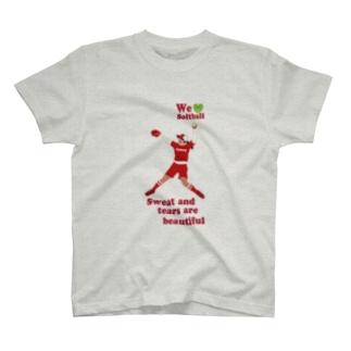 we love Softballスマホサイズ T-shirts