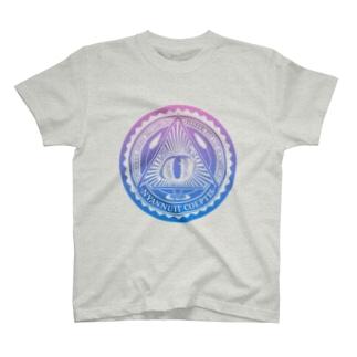 Nyalluminati(ニャルミナティー)Tシャツ グラデーションB T-Shirt
