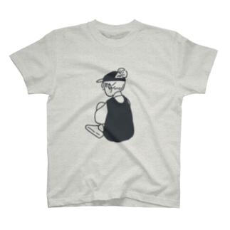 うしろすがた(ネイビー) T-shirts
