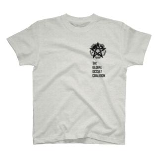 GOCロゴグッズ-黒[SCP Foundation] Tシャツ