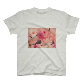 夕暮れの庭で T-shirts
