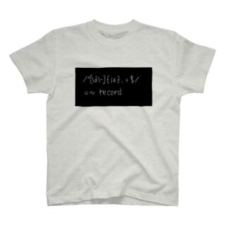 正規表現 T-shirts
