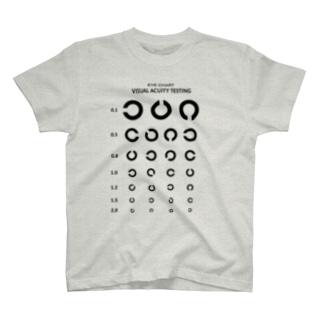 Visual Acuity Testing [前面プリント] ブラック T-Shirt