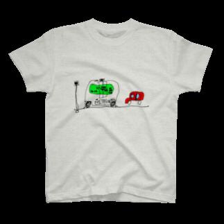ユイゴイレブンのEZ10が実用化されて街を走っているところ T-shirts