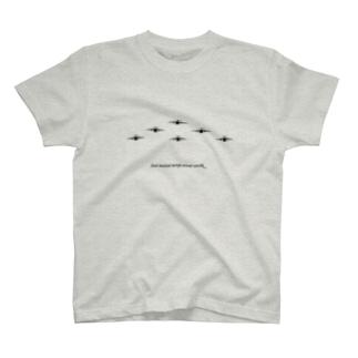 C-1輸送機編隊-Bk T-shirts