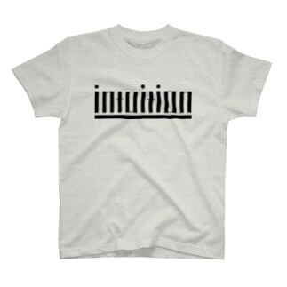 intuition(黒ロゴ) T-shirts