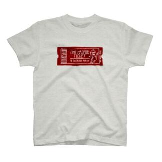 恐竜時代タイムマシンチケット〜白亜紀行き〜 RED T-shirts